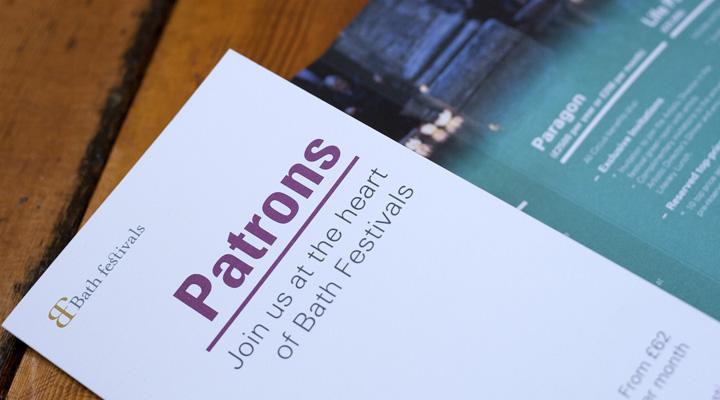 Bath Festivals Patrons leaflet